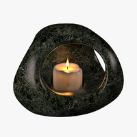 candle stone 3d model