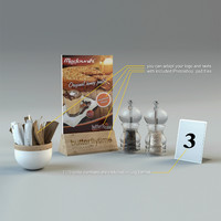 3d model of table cafe restaurant
