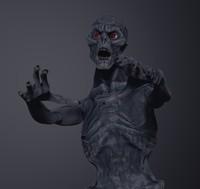 3d model zbrush zombie polypaint