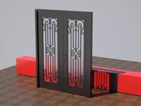 3d model door iron