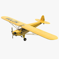 3ds max light aircraft piper j