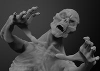 3d model zbrush zombie