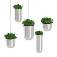 3dsmax plants hanging metal pots