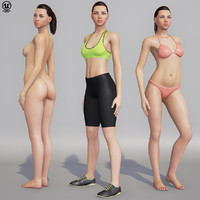 woman character unreal 4 3d 3ds