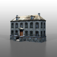 house french 3d fbx