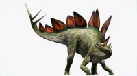 stegosaurus 3d blend