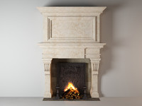 3d model fireplace untitled
