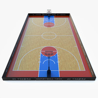 3d basketball court ball model