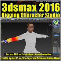 054 3ds max 2016 Rigging Character Studio vol 54 cd front