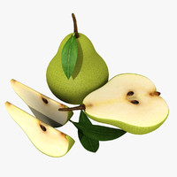 3ds max pear half slice