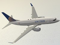boeing 737-700 united airlines 3ds