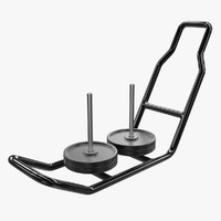 training sled 3d obj