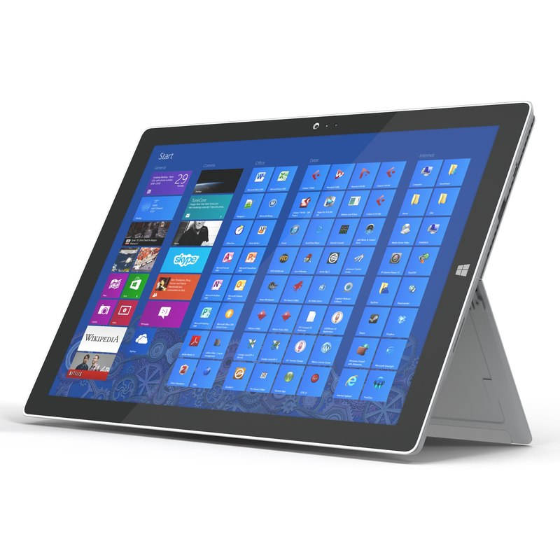 Microsoft Surface Pro 3 Tablet 3d model 01.jpg