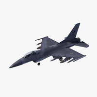 3d f16c falcon fighter lod