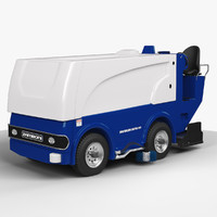 3d model ice resurfacer zamboni 650