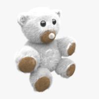 3d model of fuzzy bear