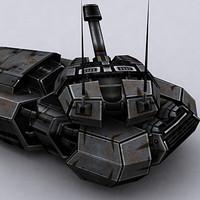 3ds max sci-fi tank hover