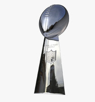 3d superbowl trophy american football model