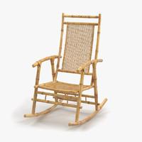maya bamboo rocking chair
