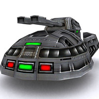 3d model of sci-fi hover tank