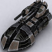3ds max sci-fi tank hovertank