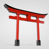 torii gate c4d