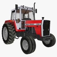 3d vintage tractor ferguson 698