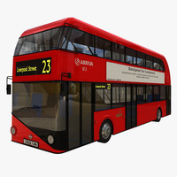 3d model new london bus