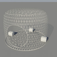 3d bahrain fish trap model