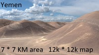 Yemen mountain desert landscape