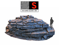 3d rock cliff hd 8k model