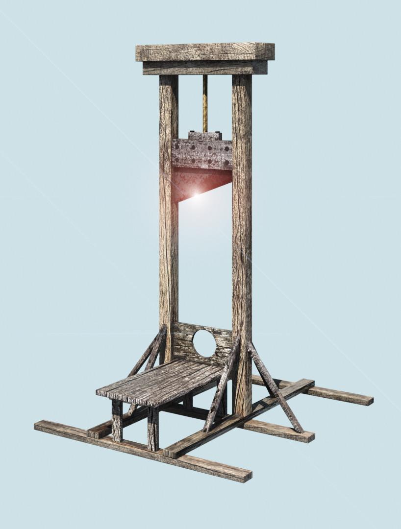 3d guillotine blade. Black Bedroom Furniture Sets. Home Design Ideas