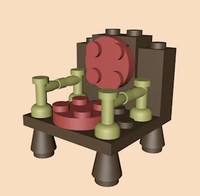 3ds max lego arm chair