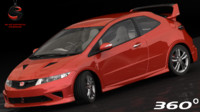 3d model honda civic type-r mugen