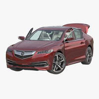 acura tlx 2015 rigged 3d max