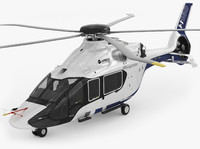 airbus h160 helicopter c4d