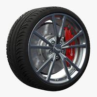 3d model aston martin wheel