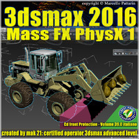 3ds max 2016 Mass Fx PhysX v.39 Italiano cd front