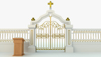 pearly gates heaven 3d obj