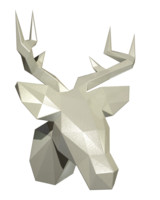 low poly deer head