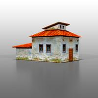 3d model spanish house