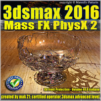 3ds max 2016 Mass Fx PhysX v.40 cd front