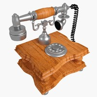 3ds max vintage telephone