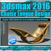 3ds max 2016 Chaise Longue 3 Mesi Subscription