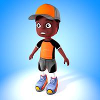 3d model child boy