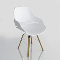 3d zanotta chair eva 2266 model