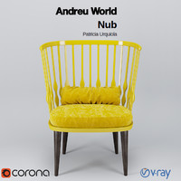 3d model andreu world nub armchair