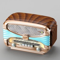retro radio art deco 3d model
