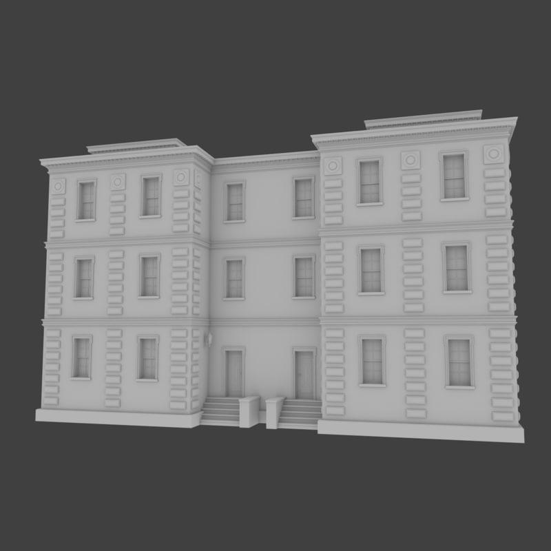 Old Brick Apartment Building: Brick Apartment Building Interior Exterior X