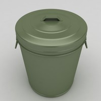 dustbin barrel 3d max